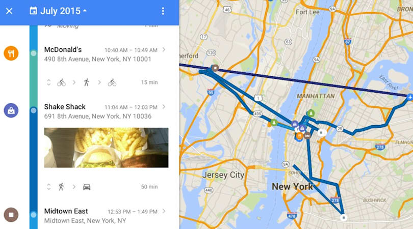 Google Maps shows what it knows about everywhere you've (ever) been