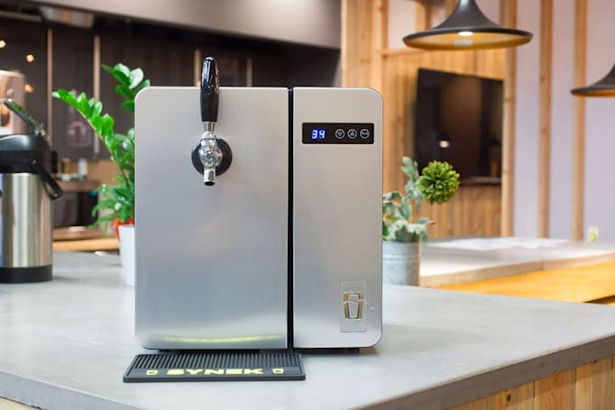 SYNEK's countertop draft system will soon put growlers on tap