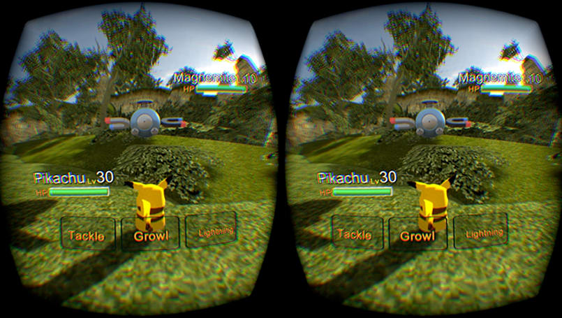 Oculus Rift Pokémon game lets you throw Poké Balls in VR