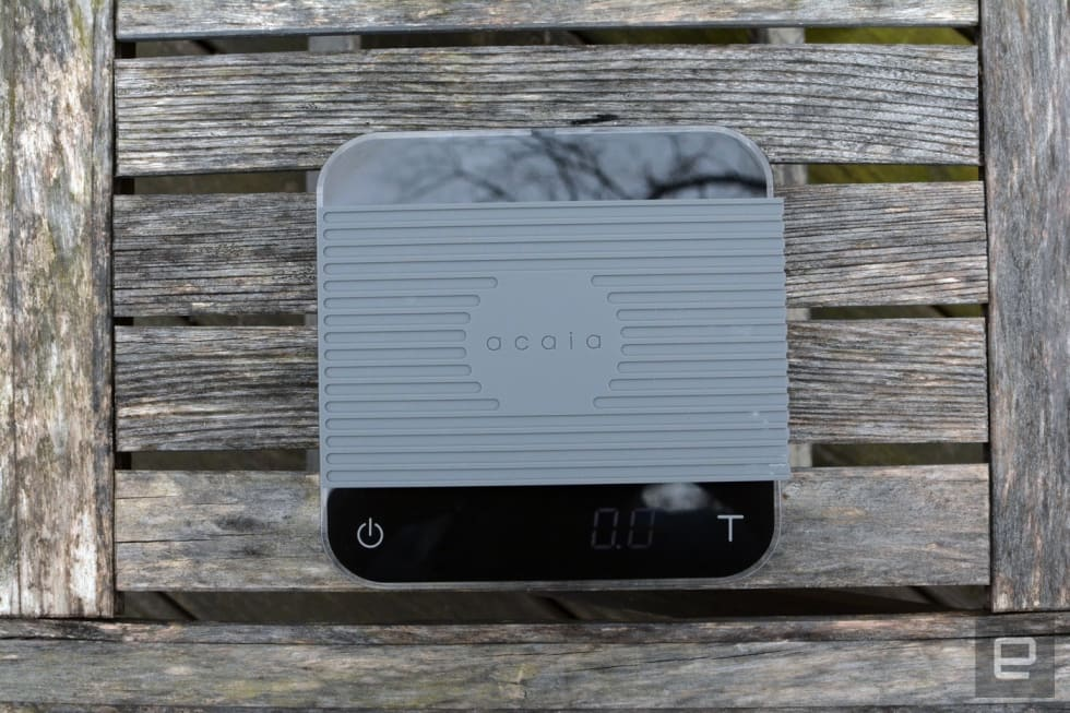 Acaia's Bluetooth scale tracks your morning coffee ritual
