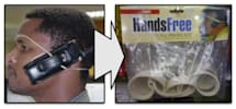 """Internet fad inspires laughable """"hands free"""" kit"""
