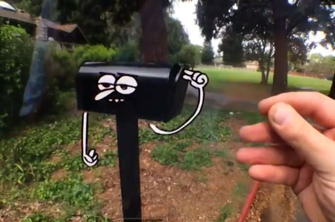 Watch an artist bring cartoons to the real world using his phone