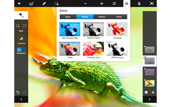 Adobe updates Photoshop Touch to get cozy on the iPad mini and Nexus 7