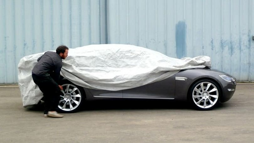 Tesla Model S priced just under $50K, rest of car still shrouded in mystery
