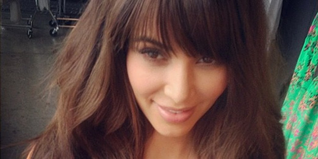 Kim Kardashian's New Bangs for Photo Shoot