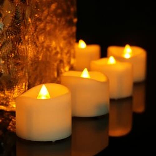Yellow Flickering Tea light Candles With Timer