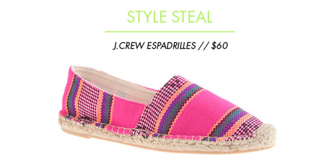 Style steal: J.Crew Espadrilles