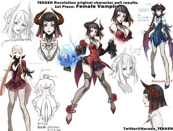 'Female Vampire' wins Tekken Revolution fan vote