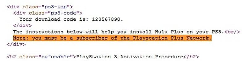 Hulu Plus will be a downloadable app on PS3, require PlayStation Plus subscription?