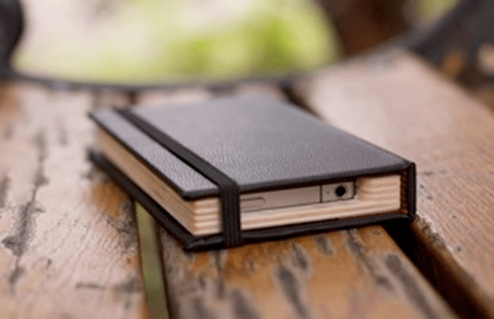 Moleskine case hides your iPhone, prison-style