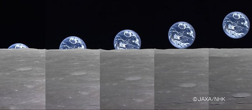 Full Earthrise over the moon captured from space in HD