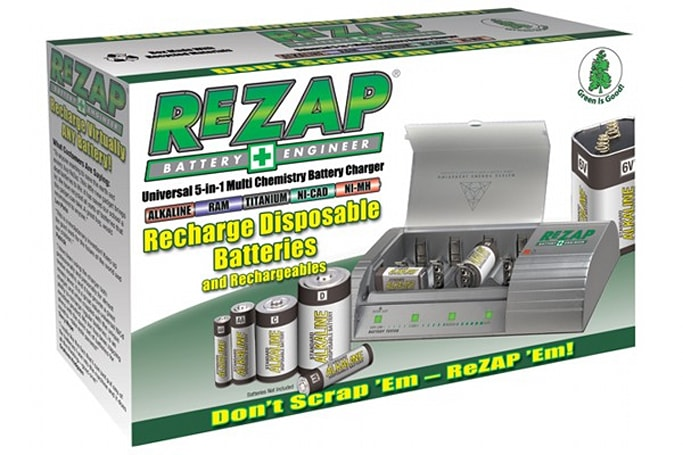 Digital Works' ReZap recharges disposable batteries, coming to North America in May