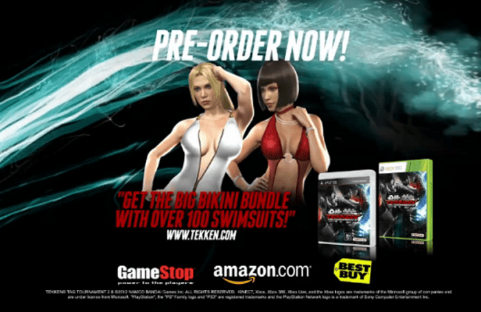 Tekken Tag Tournament 2 receiving 'over 100 swimsuits' as pre-order bonus