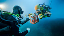 Stanford's humanoid robot diver explores its first shipwreck