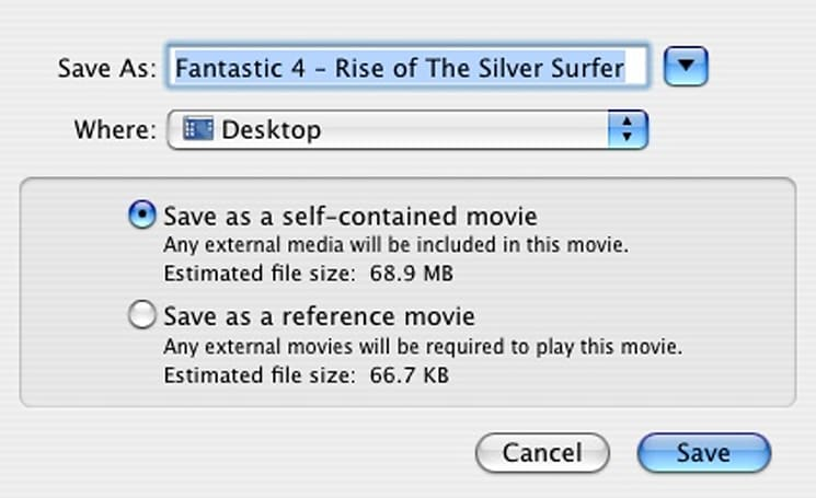 Saving Quicktime Trailers from Apple