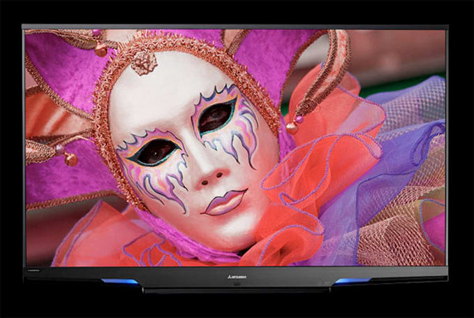 Mitsubishi's LaserVue HDTV makes triumphant 75-inch return, becomes 3D-ready