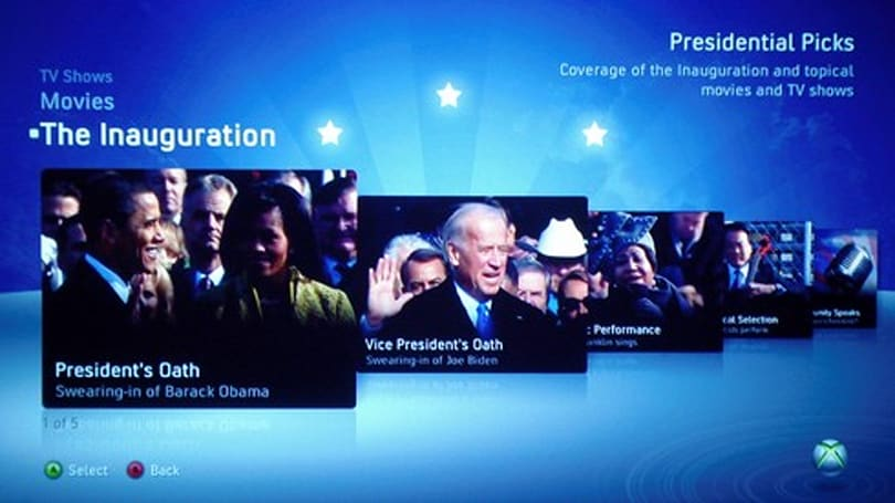 Obama inauguration takes the Spotlight on Xbox Live