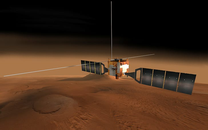 Mars Express videos the red planet from orbit