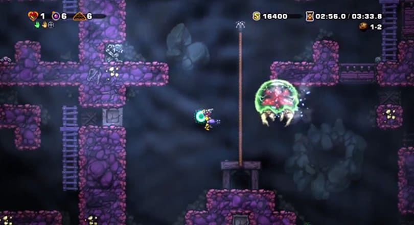 Spelunky meets Metroid in the caverns of Zebes