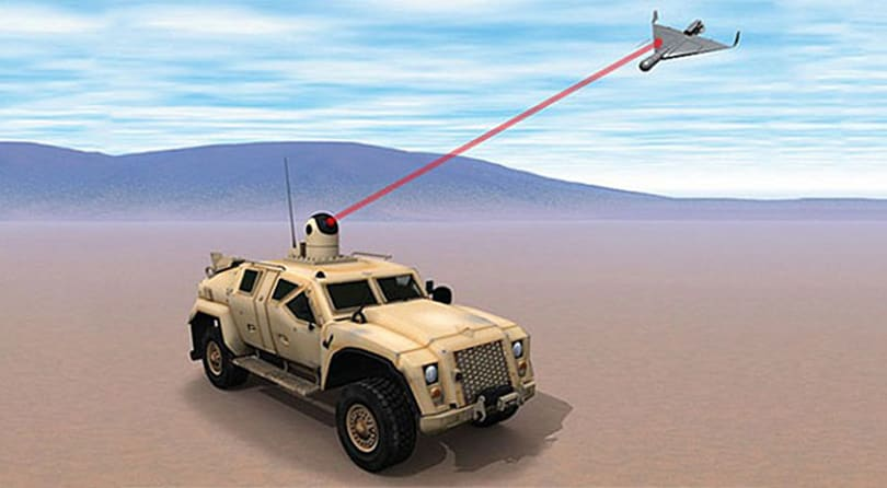 US Navy wants to blast enemy drones with Humvee-mounted laser cannons