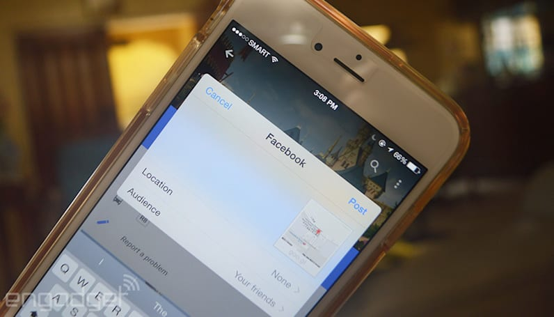 Google Maps for iOS can share places on Facebook