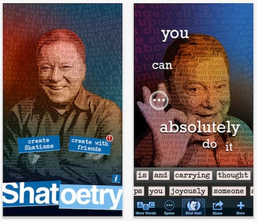 Shatoetry iPhone app lets you put... words... in... William Shatner's... mouth