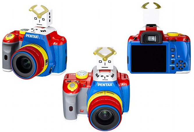 Pentax K-r receives a rainbow paintjob, 35mm prime lens for limited edition kit