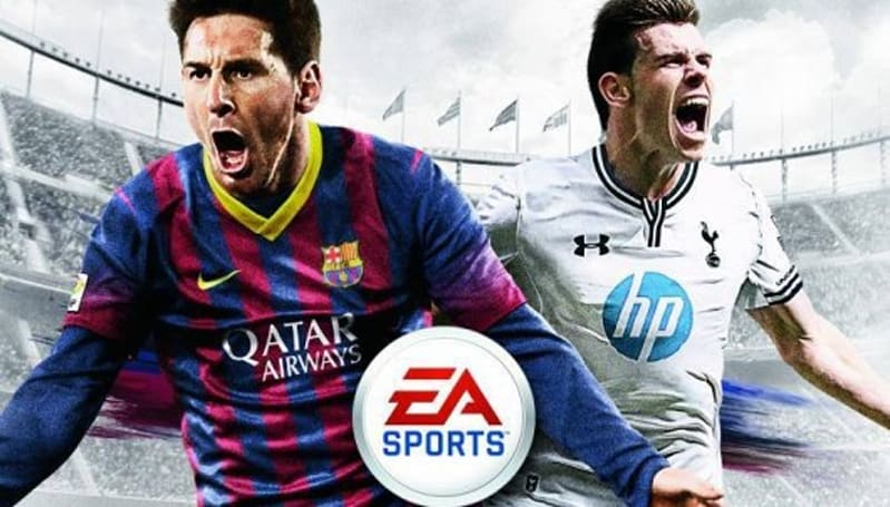 FIFA 14 sports Gareth Bale on UK cover