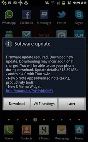 Samsung Galaxy Note Ice Cream Sandwich update begins rolling out now!
