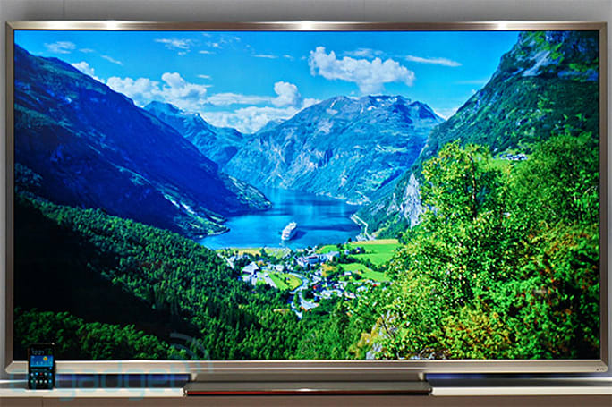 Toshiba 84-inch 4K Quad Full HD TV hands-on (video)