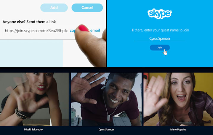 Skype gets shareable conversation links for easy invites