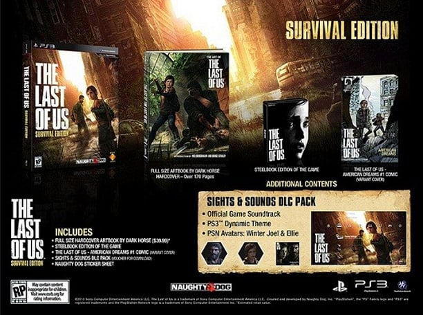 The Last of Us special editions in US all about Survival, Post-Pandemics