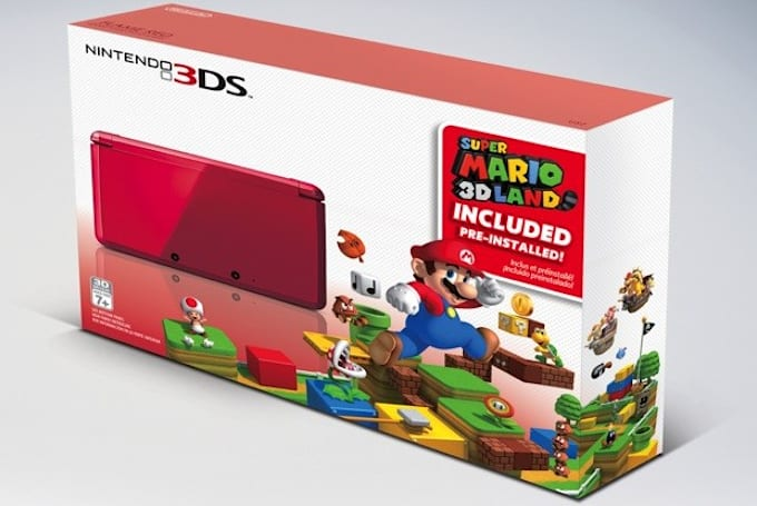 Nintendo bundles red 3DS with Super Mario 3D Land starting November 23rd