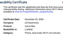 LG Arena Max gets WiFi certification, sounds way more extreme than Arena