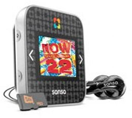 SanDisk slotRadio player comes with jam-packed card: like NOW, but infinitely worse