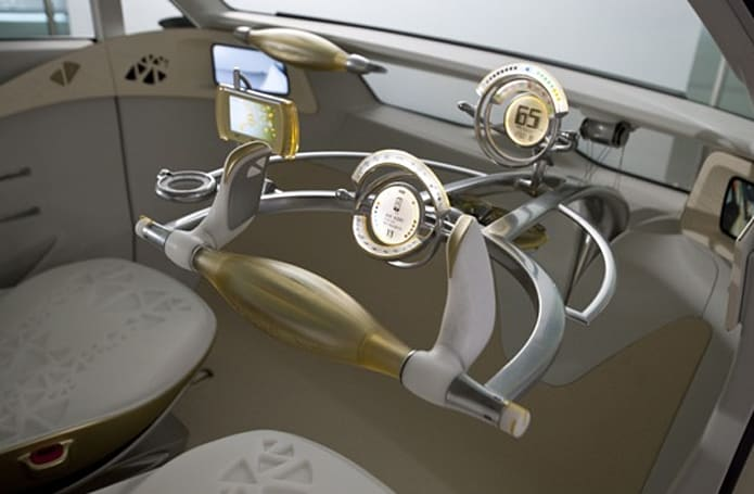 Toyota's FT-EV II concept sports steampunk interior, joystick controls