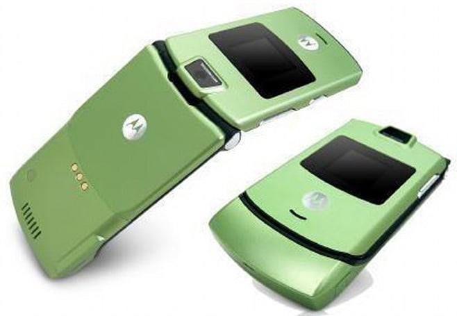 Lime green RAZR in the mix
