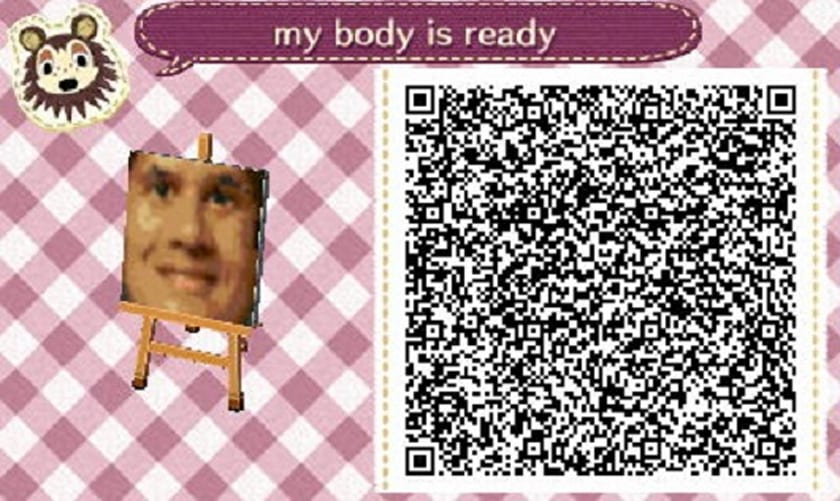 Reggie Crossing edition Qr Code Animal Crossing New Leaf Water