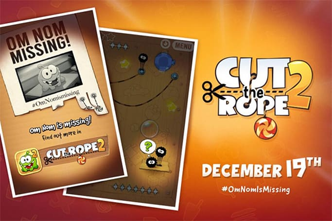 Cut the Rope 2 gobbles up all the candy on iOS Dec.19