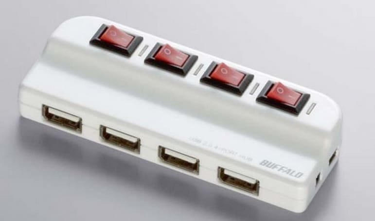 Buffalo BSH4A02 USB hub loves switches, hates vampires