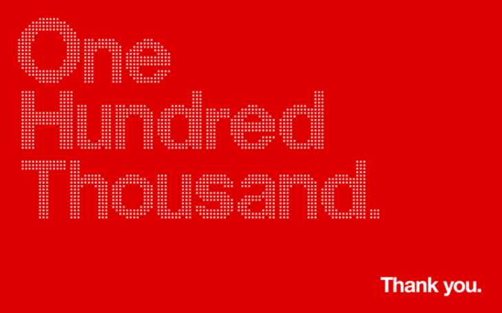 Minimalist iOS game Hundreds sells 100,000 copies