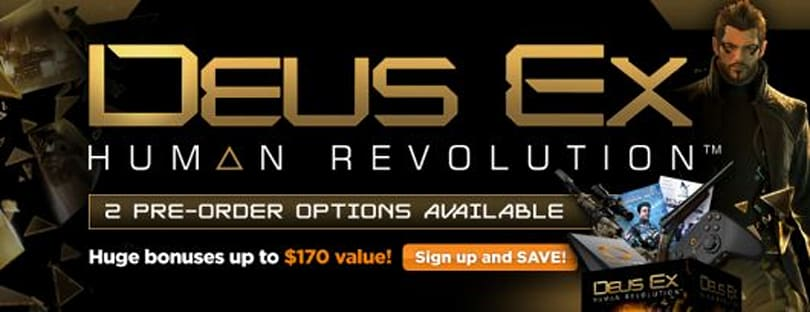 Deus Ex: Human Revolution coming to OnLive, free MicroConsole and original Deus Ex with pre-order