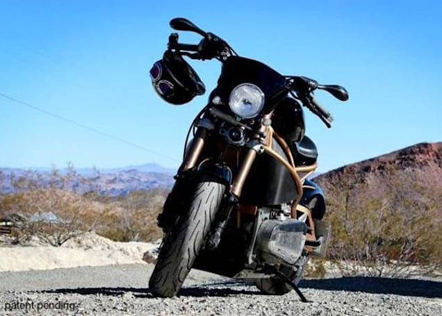 Brutus 2.0 electric bike appears with moody paint job, helmet and goggles not included