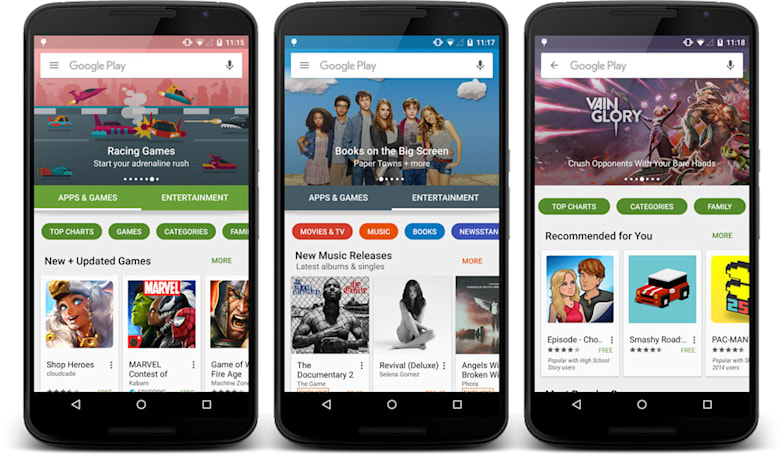 Google's redesigned Play store starts rolling out