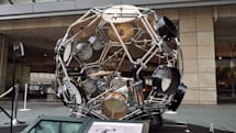 Yamaha's motorcycle design team made this 360-degree drum kit sphere