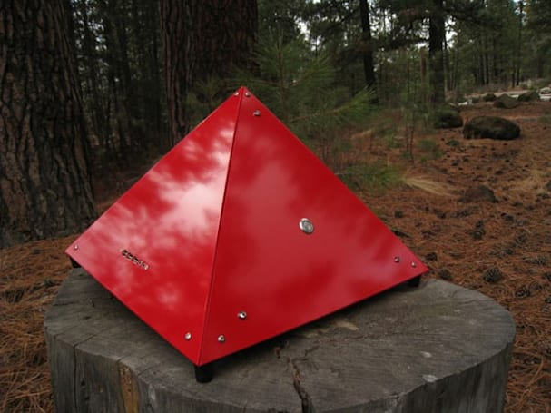 Vertex aluminum pyramid PC case looks better in the forest than on your desk