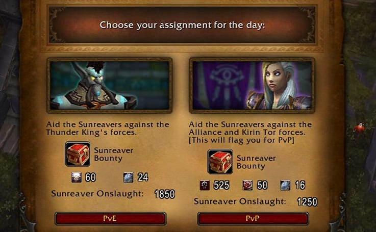 Patch 5.2 PTR: PvP dailies, and additional rewards for PvE Dailies.
