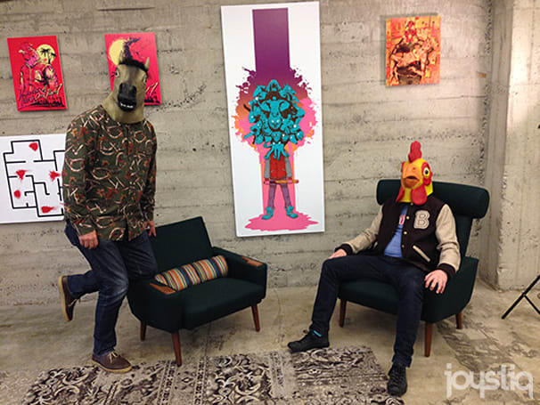 Seen@GDC 2014: Animal masks and fan art at Devolver Digital