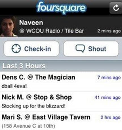 Foursquare tries the Dodgeball concept again on the iPhone