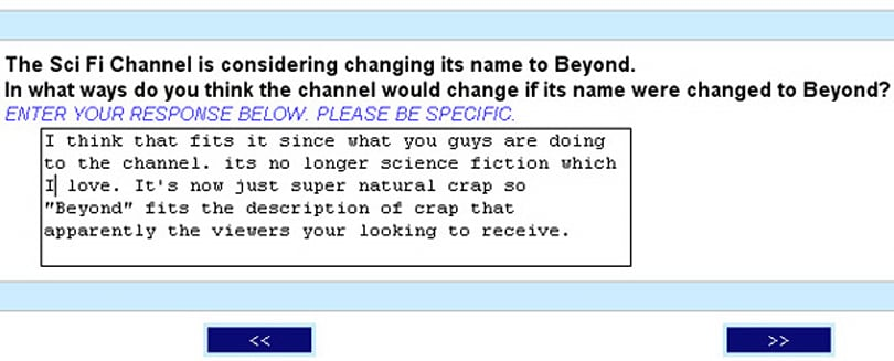SciFi channel considering name change to Beyond